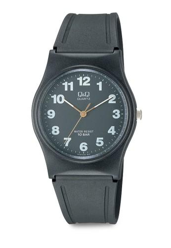 Q&Q VP34J011 圓框數字休zalora 男鞋 評價閒手錶, 錶類, 其它錶帶