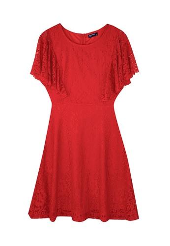 Cheetah red Cheetah Ladies Ruffled Lace Dress - CL-19608 616B8AAC1FC600GS_1