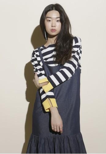 韓esprit女裝系時尚條紋長袖針織上衣, 服飾, 上衣