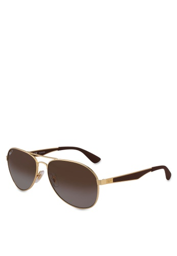 Ray-Ban gold RB3549 Sunglasses D6C92GL1CED345GS_1