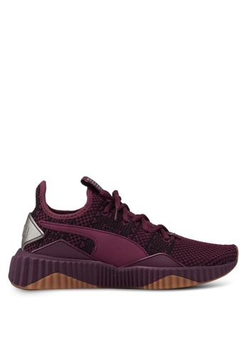 6a5368fb21f Puma red and purple and brown Defy Luxe Women s Running Shoes  FDE4ESH56AA05AGS 1