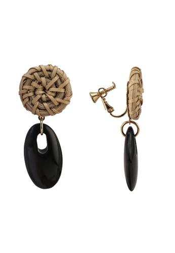 niko and ... black Woven Earrings 8DAA3AC9C31E85GS_1