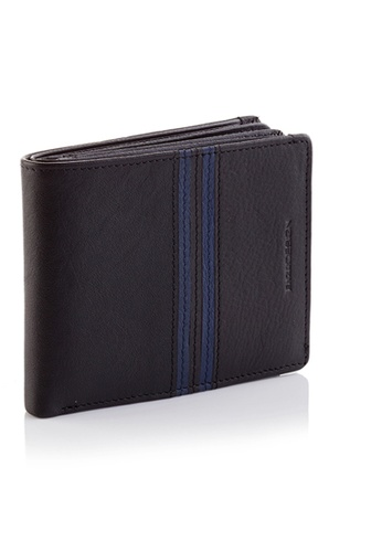 ENZODESIGN black and blue ENZODESIGN Fine Quality Cow Leather Double Bill Compartments Wallet 2E0B6AC07EDD27GS_1