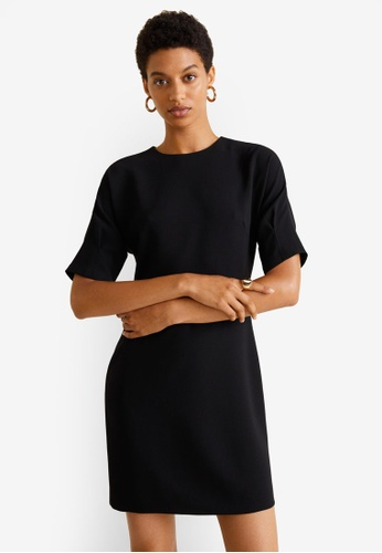 Mango black Short Sleeved Dress E9B0BAA566886CGS_1