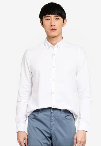LC Waikiki white Slim Fit Long Sleeve Oxford Shirt F8D30AA941C0CDGS_1