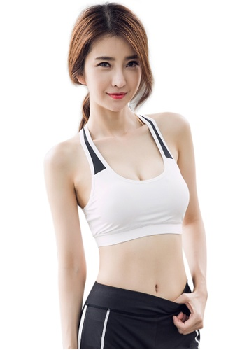 YG Fitness black and white Sexy Quick-Drying Running Fitness Yoga Bra 5DF32US9AEDF57GS_1