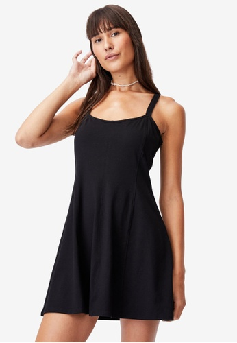 Cotton On black Turner Strappy Mini Dress E6E37AAD799958GS_1