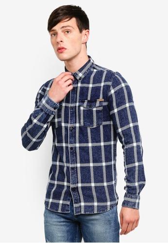 Only & Sons 藍色 格紋襯衫 F8698AAE83EF2CGS_1