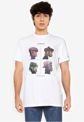 Springfield white Gorillaz T-Shirt 39D70AAA5FEB0AGS_1