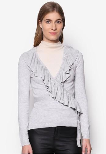 The Emily 荷葉飾裹飾長袖衫,esprit高雄門市 服飾, 服飾