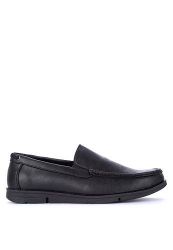 H2Ocean black Quon Boat Shoes 93D6ESH7C50357GS_1