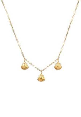 Elli Germany gold Perhiasan Wanita Perak Asli - Silver Kalung Shell Pendant Summer Beach Gold Plated 2FDB8ACA645BD9GS_1