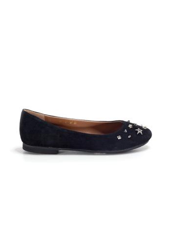 Shu Talk 黑色 LeccaLecca 簡約窩釘平底鞋 9C36DSH37306FEGS_1