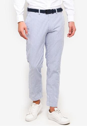 275e192e78 Red Fleece Slim-Fit Striped Cotton Seersucker Pants