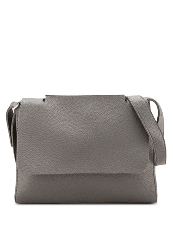 Sunnydaysweety grey Simple Front Flap Shoulder Bag A10110GY 7CB5BAC1A60230GS_1