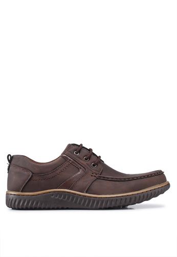 Rocklander brown Seam Detail Shoes 14B48SHDB5E49BGS_1