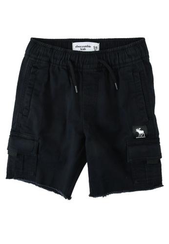 Abercrombie & Fitch black Twill Utility Shorts A240EKAFF1A5FFGS_1