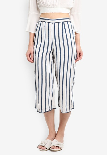 Miss Selfridge multi Stripe Culotte Trousers EC508AA0DD5A49GS_1