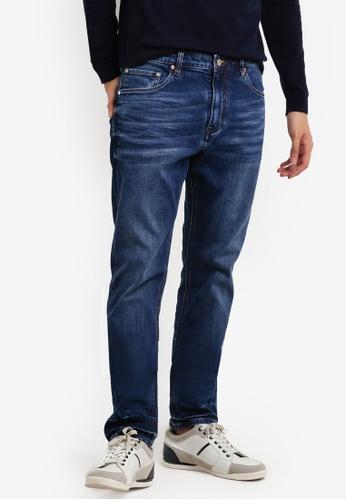 CR7 藍色 Type C窄管牛仔褲 CR532AA96EEXMY_1