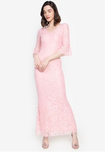 Get Laud pink Nympha Sexy Maxi Dress F51C4AA4DAAF06GS_1