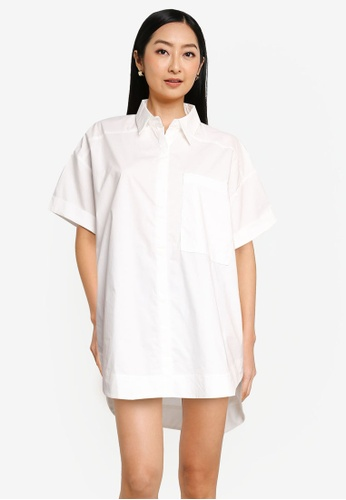 URBAN REVIVO white Casual Dress DE9A2AA743029FGS_1