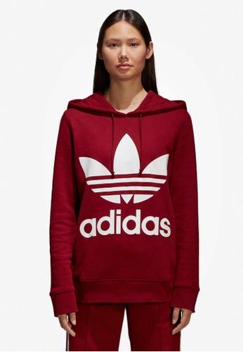 adidas red adidas originals trefoil hoodie AD372AA0SUH0MY_1