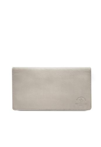 Santa Barbara Polo & Racquet grey Santa Barbara Polo & Racquet Club Leather Bifold Long Wallet EB14BACB23DC51GS_1