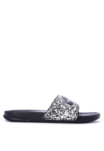 Nike black Benassi Just Do It Print Men's Slides NI126SH0KPQRPH_1