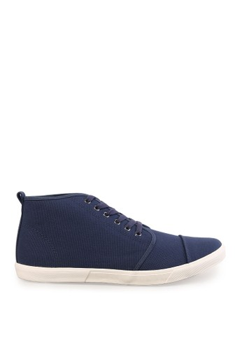 Minarno blue Blue High Top Canvas Sneakers MI641SH38RYZID_1