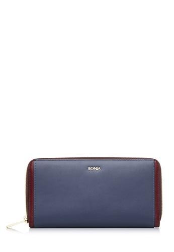 BONIA grey Medium Grey Astor Zipper Wallet 0764EAC80991DBGS_1