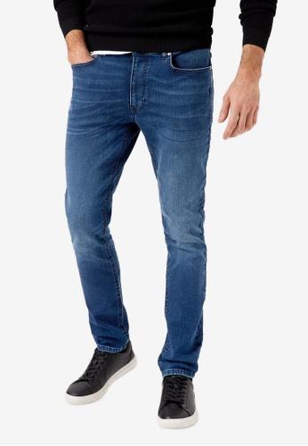 Burton Menswear London navy Indigo Tyler Skinny Fit Jeans 5DED5AAEF82211GS_1