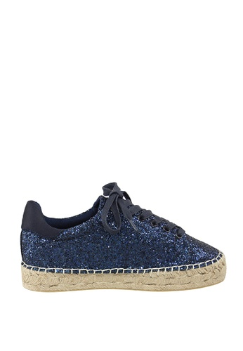 London Rag navy Navy Blue Lace-up Espadrille Sneakers 4CA4BSHA21297BGS_1