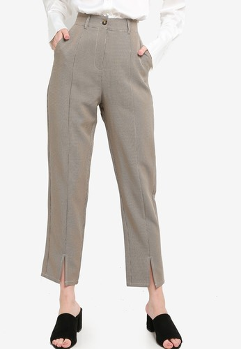 ZALORA WORK multi Tailored Pants With Slit BCDE7AA6E8F719GS_1