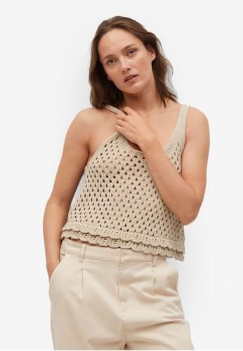 Mango grey Ruffled Crochet Top DEEE4AA766628BGS_1