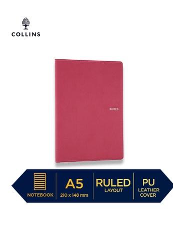 Collins pink Collins Metropolitan Melbourne  ─  Notebook A5 Ruled Pink 797C4HL220E10EGS_1