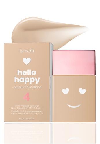 Benefit beige Benefit Hello Happy Soft Blur Foundation Shade 04 AAE42BE97931AFGS_1