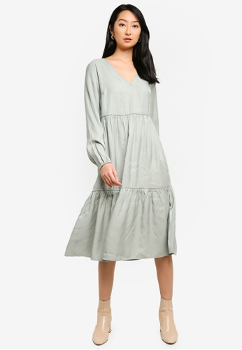 Noisy May grey Cora Long Dress EDE38AAEE6B8AEGS_1