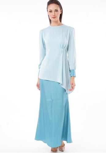 Kurung Michiko from Jameqha in Blue