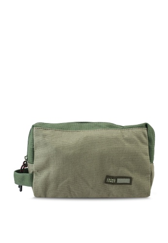 Jack & Jones green Vance Toiletry Bag FBAFEAC2C6415CGS_1