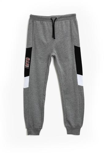 KOTON grey Graphic Sweatpants 1F458KAE50CCCFGS_1