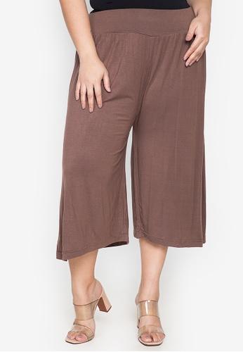 Amelia brown Ellaine Plus Size Square Pants 52B75AAD040A35GS_1
