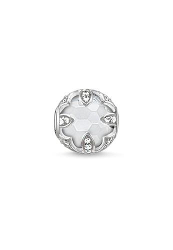 """THOMAS SABO silver Bead """"white lotus"""" 20950AC57E1EBBGS_1"""