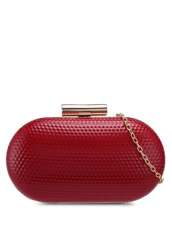 Papillon Clutch red Glossy Metallic Clutch 003D1AC09E2FFAGS_1