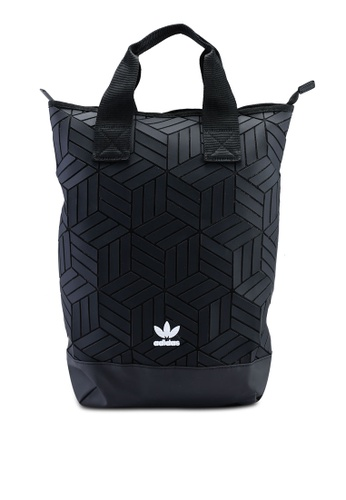 6d73582198 adidas black adidas originals roll top 3d backpack 42167AC9645387GS 1