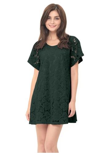 MOOIMOM green MOOIMOM Full Lace Nursing Dress Baju Hamil Menyusui - Green 489ADAAC92CA10GS_1