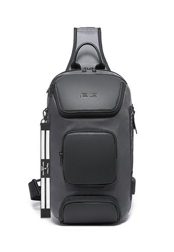 Twenty Eight Shoes grey Fashion Chest Bag X 7086 7182BACA500383GS_1