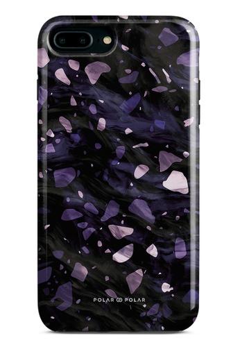 Polar Polar purple Lilac Terrazzo Gem Dual-Layer Tough Case Glossy For iPhone 8 Plus/7 Plus 72C0EAC3BE05FAGS_1