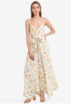 8a7ac4b1 Miss Selfridge white Orange Blossom Print Cami Jumpsuit 34D18AAAC738E8GS_1
