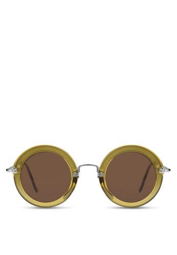 Suki 復古圓形太陽zalora 心得 ptt眼鏡, 飾品配件, 飾品配件
