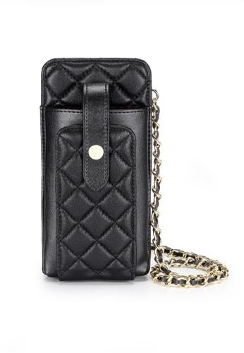 Twenty Eight Shoes black VANSA Sheep Leather Lingge Phone Case VBW-Ps3027 AAAFDAC5DC57DAGS_1